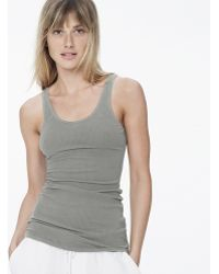 James Perse Ribbed Daily Tank - Lyst