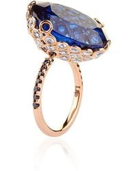 Lito - One Of A Kind 18K Rose Gold Ring With Kyanite - Lyst