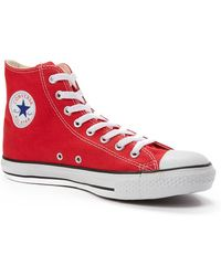 Converse Chuck Taylor All Star Hi-Top Plimsolls red - Lyst
