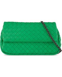 Bottega Veneta Intrecciato Nappa-Leather Messenger Bag - For Women green - Lyst