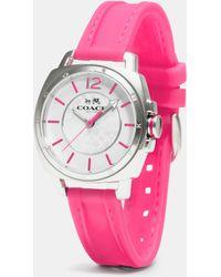 COACH - C.O.A.C.H. Boyfriend Stainless Steel Rubber Strap Watch - Lyst