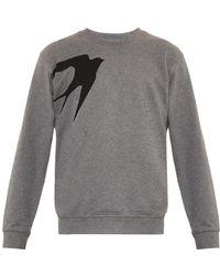 McQ by Alexander McQueen Swallow-print Cotton Sweatshirt - Lyst