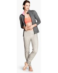H&M Gray Yoga Trousers - Lyst