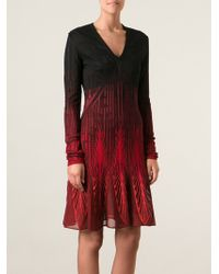 Roberto Cavalli Mesh Crochet Patterned Ombré Dress - Lyst
