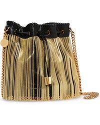 Stella McCartney | Falabella Chain Fringed Bucket Bag | Lyst