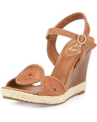 Jack Rogers Clare Rope Wedge Sandal - Lyst