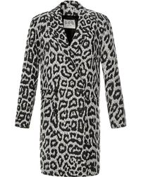 Sea Leopard Canvas Overcoat - Lyst