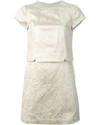 Tory Burch Jacquard Shift Dress - Lyst