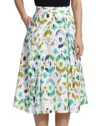 Milly Printed Midi Skirt - Lyst