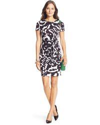 Diane Von Furstenberg Zoe Short Sleeved Silk Jersey Dress - Lyst
