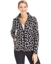 Jones New York Signature Petite Animal-Print Zip-Up Jacket - Lyst