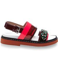 Marni Fussbett Embellished Sandals - Lyst