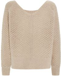 Juicy Couture Lurex Open Knit Sweater - Lyst