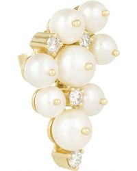 Holly Dyment - 14-Karat Gold, Pearl And Diamond Earrings - Lyst