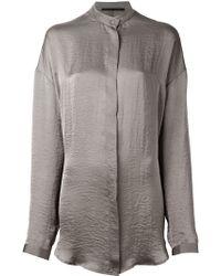 Haider Ackermann Mandarin Collar Shirt - Lyst