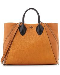 Pour La Victoire Yves Pebbled Leather Tote Bag - Lyst