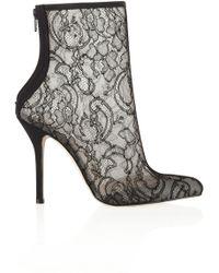 Oscar de la Renta Mikarete Lace Ankle Boots - Lyst