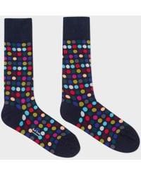Paul Smith | Men's Navy Multi-coloured Polka Dot Socks | Lyst