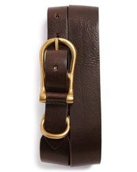 Bills Khakis - 'burnett' Leather Belt - Lyst