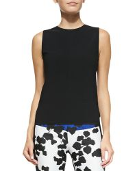 Narciso Rodriguez Sleeveless Scuba Top With Harness - Lyst
