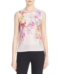 Ted Baker | 'samata' Floral Print Sleeveless Top | Lyst