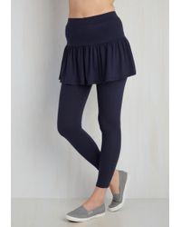 Leggsington - Skirt With The Idea Leggings In Navy - Lyst