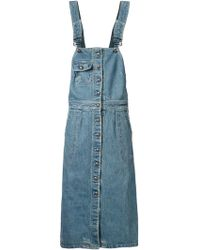 Sea Dungaree Dress - Lyst