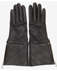 Agnelle Black Shearling Gloves  - Lyst