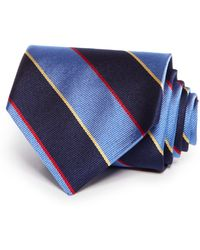 Brooks Brothers Striped Classic Tie blue - Lyst