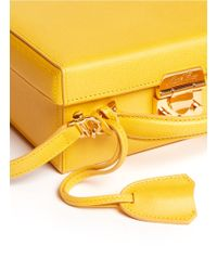 Mark Cross Grace Box Small Leather Bag - Lyst