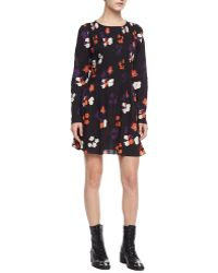 Zadig & Voltaire Rodin Long Sleeve Floral Print Cotton Dress - Lyst