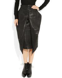 Haider Ackermann Textured-leather Origami Skirt - Lyst