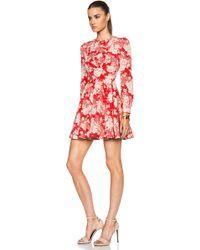Saint Laurent Bicolor Kimono Drape Insert Dress - Lyst