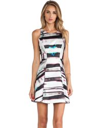 Milly Mirage Print Flare Dress - Lyst