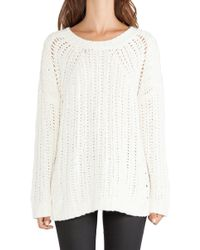 Elizabeth And James Textured Boxy Pullover - Lyst