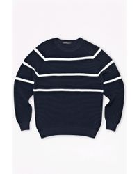 French Connection Engineered Striped Ottoman Jumper - Lyst
