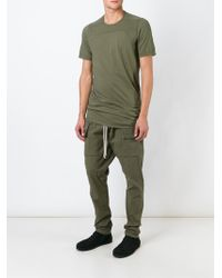 DRKSHDW by Rick Owens Draped T-shirt - Lyst