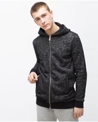 Zara   Open Sweatshirt   Lyst
