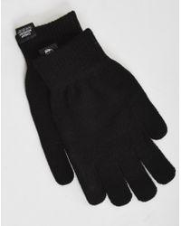Cheap Monday - Faux Fur & Faux Patent Leather Gloves - Lyst