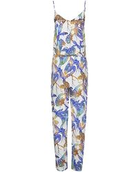 Matthew Williamson Wood Cut Jumpsuit - Lyst