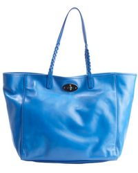 Mulberry Blue Leather Dorset Medium Tote - Lyst