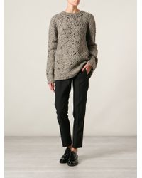 Stella McCartney Crochet Embroidered Sweater - Lyst