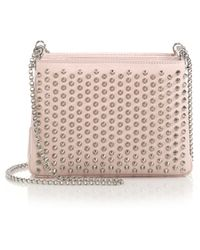 Christian Louboutin | Triloubi Triple-gusset Spiked Leather Shoulder Bag | Lyst