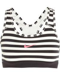 Nike Pro Classic Dri-fit Striped Stretch-jersey Sports Bra - Lyst