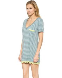 Honeydew Intimates - All American Sleepshirt - Surf/Heather Grey - Lyst