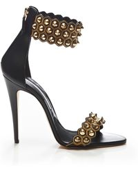 Brian Atwood Abel Studded Leather Sandals - Lyst