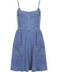 Topshop Lace Trim Strappy Sundress - Lyst