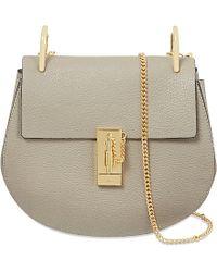 Chloé Drew Leather Over The Shoulder Handbag - Lyst