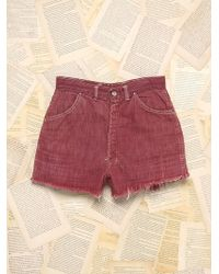 Free People Vintage Denim Shorts - Lyst