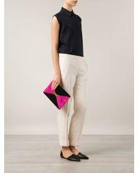 Marie Marot - Colorblocked Zip Clutch - Lyst